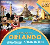 Book cheap flights to Orlando from London and London to Orlando flights