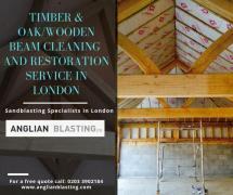 Oak & wooden beam cleaning & Restoration in London