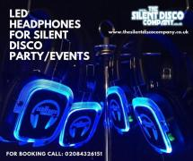 LED headphones hire for silent events