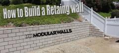 """Strong Retaining Walls Construction - """"No More Land Slides Now!!"""""""