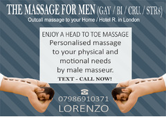 ★ MASSAGE by MALE Masseur ★For MEN OUT-CALL to Your HOTEL/HOME London