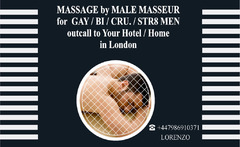 MASSAGE ★MALE FOR MALE ★ FULL BODY – RELAXING ★ at your HOTEL /HOME