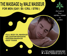 MASSAGE FOR MEN GAY/BI/STR IN LONDON | by MALE MASSEUR FOR MEN | OUT CALL