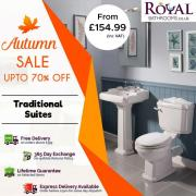 Autumn Sale up to 70% off on Traditional Suites