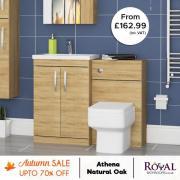 Athena Oak bathroom furniture on Sale