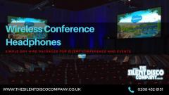 Wireless Conference Headphones Hire for Corporate and Silent Events in UK